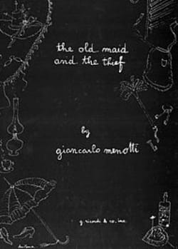 Gian-Carlo Menotti - The Old Maid And The Thief - Partition - di-arezzo.fr