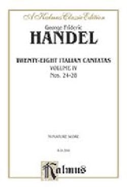 HAENDEL - 28 Italian Cantatas Volume 4 - Partition - di-arezzo.fr