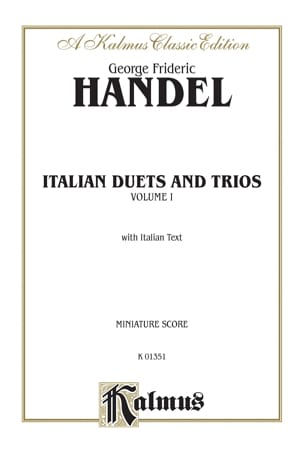Georg-Friedrich Haendel - Italian Duets And Trios Volume 1 - Partition - di-arezzo.fr