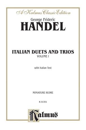 Italian Duets And Trios Volume 1 HAENDEL Partition Duos - laflutedepan