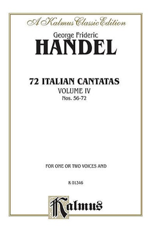 72 Italian Cantatas Volume 4 HAENDEL Partition Mélodies - laflutedepan
