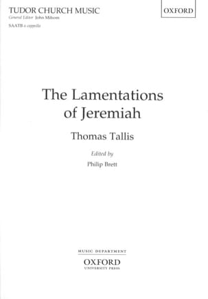 Thomas Tallis - The Lamentations Of Jeremiah Voix Mixtes - Partition - di-arezzo.fr
