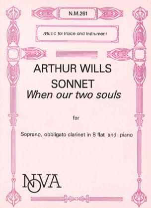 Sonnet When Our 2 Souls Arthur Wills Partition laflutedepan