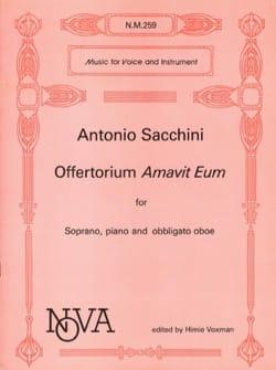 Antonio Sacchini - Offertorium Amavit Eum - Partition - di-arezzo.fr