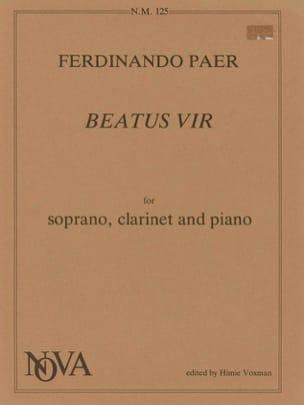 Beatus Vir - Fernando Paer - Partition - Clarinette - laflutedepan.com