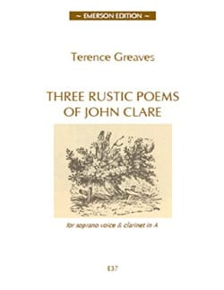 3 Rustics Poems Terence Greaves Partition Clarinette - laflutedepan