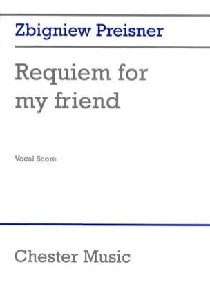 Zbigniew Preisner - Requiem For My Friend - Partition - di-arezzo.fr