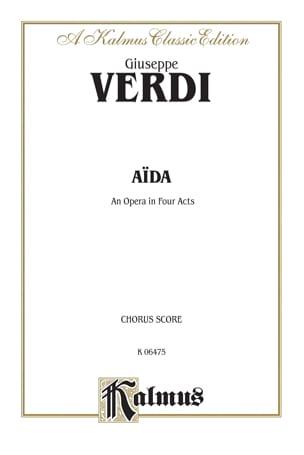 Giuseppe Verdi - Aïda. Choeurs - Partition - di-arezzo.fr