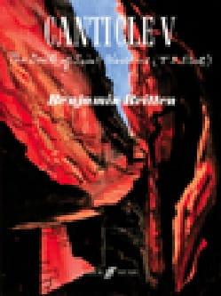 Benjamin Britten - Canticle V Opus 89 - Partition - di-arezzo.fr