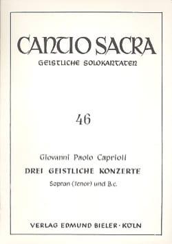 3 Geistliche Konzerte - Giovanni Paolo Caprioli - laflutedepan.com