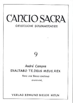 André Campra - Exaltabo Te, Deus Meus, Rex - Partition - di-arezzo.fr