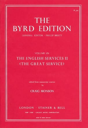 The English Service Volume 2 Willam Byrd Partition laflutedepan