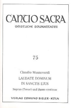 Claudio Monteverdi - Laudate Dominum In Sanctis Ejus - Partition - di-arezzo.co.uk