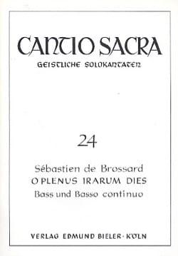 Sébastien de Brossard - O Plenus Irarum Dies - Partition - di-arezzo.fr