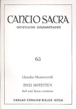 Claudio Monteverdi - 2 Motets - Partition - di-arezzo.fr