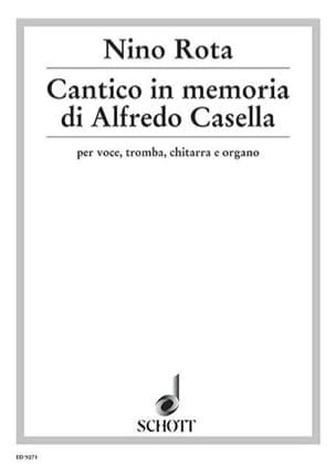 Cantico In Memoriam Di Alfredo Casella - Nino Rota - laflutedepan.com