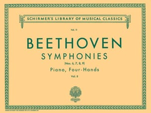Symphonies 6 A 9 . Volume 2. 4 Mains BEETHOVEN Partition laflutedepan