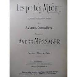 Les P'tites Michu - André Messager - Partition - laflutedepan.com