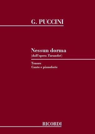 Giacomo Puccini - Nessun Dorma. Turandot - Partition - di-arezzo.fr