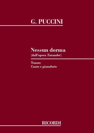 Giacomo Puccini - Nessun Dorma. Turandot - Sheet Music - di-arezzo.co.uk