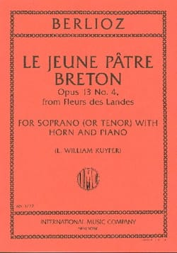 Hector Berlioz - Le Jeune Pâtre Breton Opus 13-4 - Partition - di-arezzo.fr