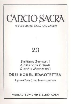 Bernardi / Grandi / Monteverdi Claudio - 3 Hohelied Motetten - Partition - di-arezzo.co.uk