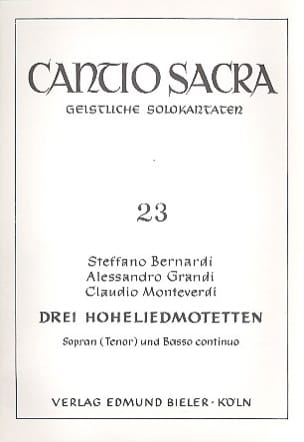 Bernardi / Grandi / Monteverdi Claudio - 3 Hohelied Motetten - Sheet Music - di-arezzo.co.uk