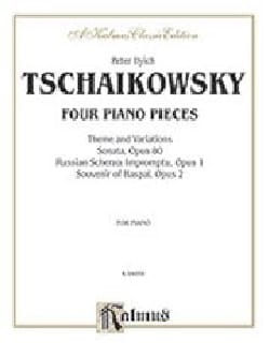 4 Piano Pieces - TCHAIKOWSKY - Partition - Piano - laflutedepan.com