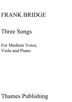 Frank Bridge - 3 Songs. - Partition - di-arezzo.fr