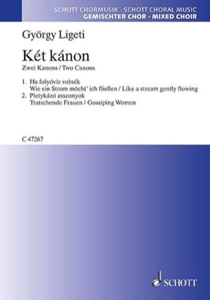 György Ligeti - Ket Kanon (2 Canons) - Partition - di-arezzo.fr