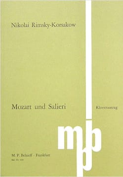 Mozart Und Salieri Opus 48 RIMSKY-KORSAKOV Partition laflutedepan