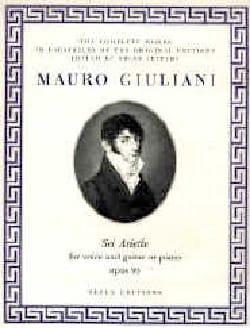 Mauro Giuliani - 6 Ariette Opus 95 - Partition - di-arezzo.fr