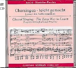 BACH - Passion according to Saint Matthew BWV 244. 2 CD Soprano CHOIR - Sheet Music - di-arezzo.co.uk