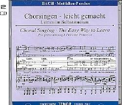 Jean-Sébastien Bach - Passion selon Saint Matthieu BWV 244. 2 CD Ténor. - Partition - di-arezzo.fr