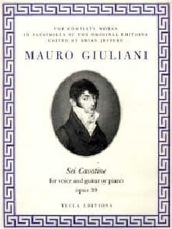 6 Cavatine Opus 39 Mauro Giuliani Partition Guitare - laflutedepan