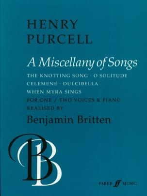 Henry Purcell - A Miscellany Of Songs - Partition - di-arezzo.fr
