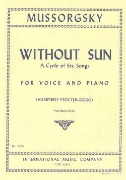 Modest Moussorgsky - Without Sun. Medium-Serious Voice - Sheet Music - di-arezzo.co.uk