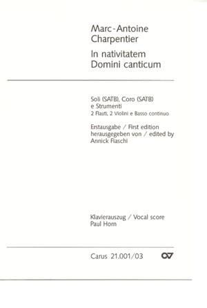Marc-Antoine Charpentier - In Nativitatem Domini Canticum H 314 - Partition - di-arezzo.fr