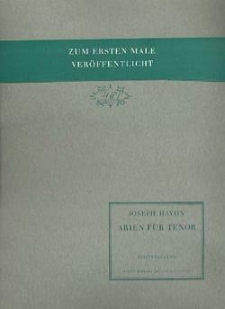 Joseph Haydn - Arien Für Tenor - Partition - di-arezzo.fr