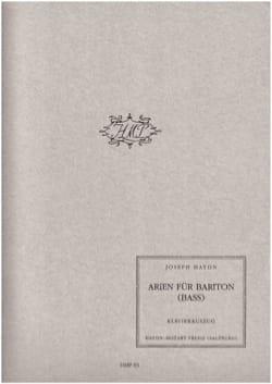 Joseph Haydn - Arien Für Bariton (Bass) - Partition - di-arezzo.fr