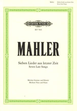 Gustav Mahler - 7 Lieder Aus Letzter Zeit Average Voice - Sheet Music - di-arezzo.co.uk