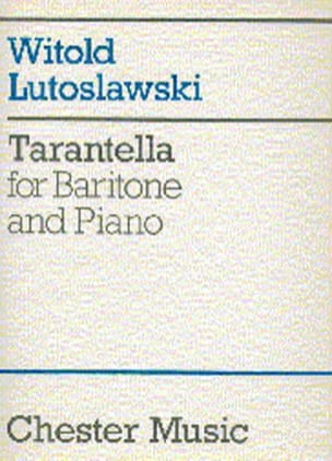 Tarentella LUTOSLAWSKI Partition Mélodies - laflutedepan