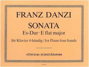 Sonate Mi Bémol Majeur. 4 Mains - Danzi - Partition - laflutedepan.com