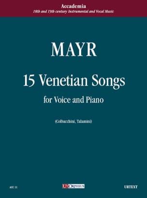 15 Canzonnette Veneziane - Johann Simon Mayr - laflutedepan.com