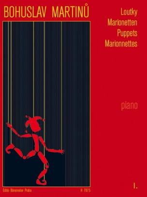Loutky Volume 1 Bohuslav Martinu Partition Piano - laflutedepan
