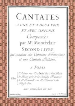 Michel Pignolet de Montéclair - Cantates Livre 2 - Partition - di-arezzo.fr