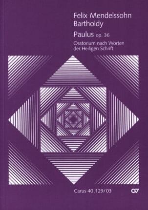 Paulus Opus 36 - MENDELSSOHN - Partition - Chœur - laflutedepan.com