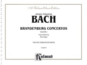 BACH - Concertos Brandebourgeois Volume 1. 4 Mains - Partition - di-arezzo.fr