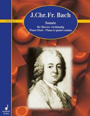 Johann Christoph Friedrich Bach - Sonate la Majeur. 4 Mains - Partition - di-arezzo.fr
