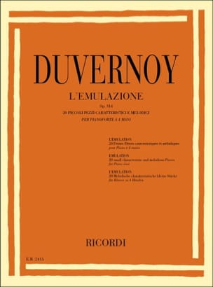 Jean-Baptiste Duvernoy - L' Emulazione Op. 314. 4 Mains - Partition - di-arezzo.fr
